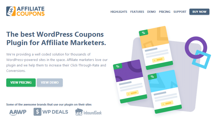 Affiliate Coupons Homepage